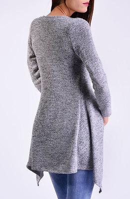 Жилетка от плетиво в сиво
