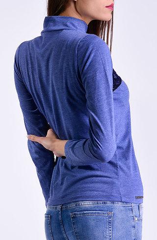 Поло блуза с дантела