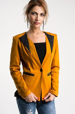 Елегантно сако в цвят горчица