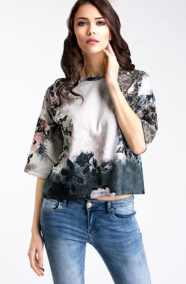 Свободна блуза с 7/8 ръкав