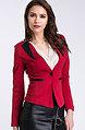 Елегантно сако в червен десен