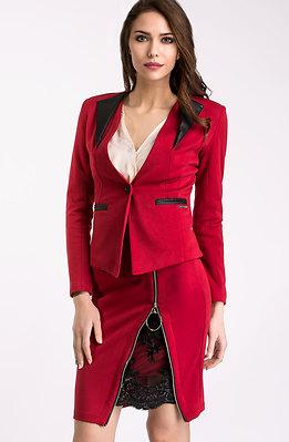 Елегантен комплект от сако и пола l