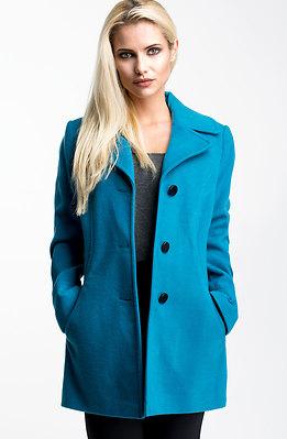 Палто от син кашмир