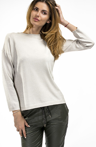 Блуза в сребристо сиво