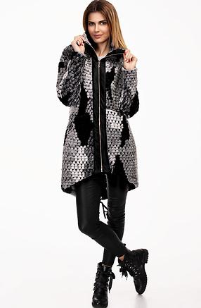 Дълго палто от вълнено букле и хастар
