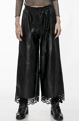 Кожен панталон с висока талия