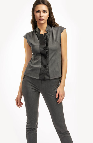 Комплект от панталон и елече в сиво