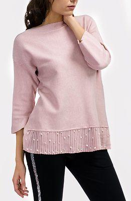 Блуза плетиво със солей и перли