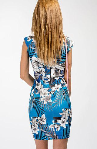Синя рокля на цветя