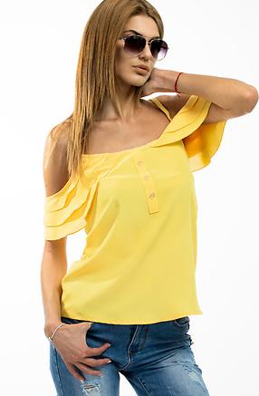 Топ с презрамки и паднало рамо в жълто