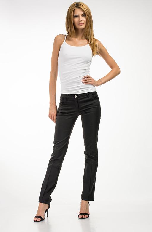 Черен панталон с ръб