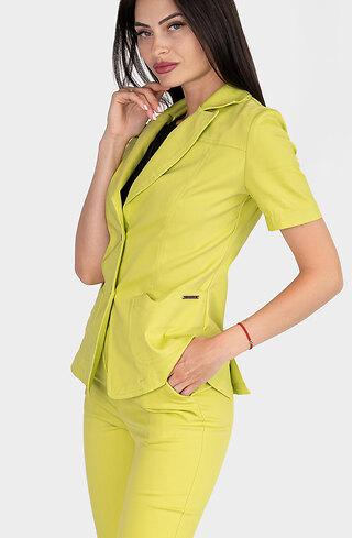 Сако с къс ръкав в цвят лайм