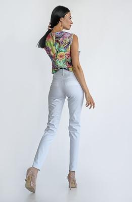 Бял панталон с висока талия