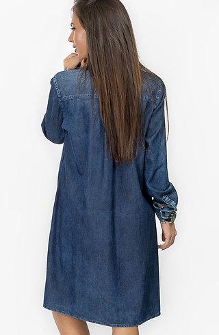 Асиметрична дънкова риза Макси