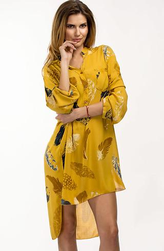 Риза - туника в жълт десен