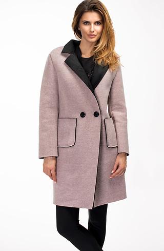 Дамско палто в цвят пепел от рози