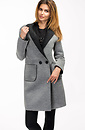 Дамско палто в сив цвят