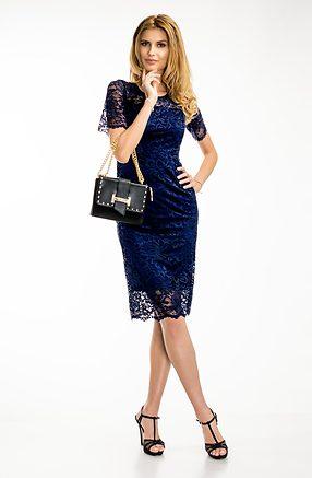 Стилна рокля от дантела