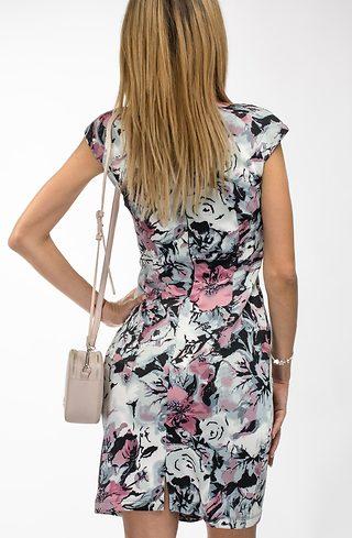 Къса рокля с флорален принт