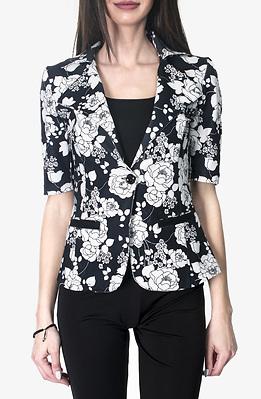 Стилно сако в черно-бяло