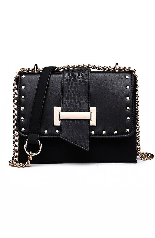 Дамска черна чанта тип куфарче