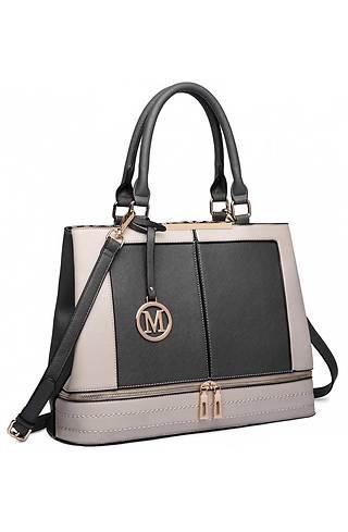 Двуцветна дамска чанта