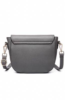 Мини чанта в сиво
