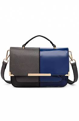 Дамска двуцветна чанта