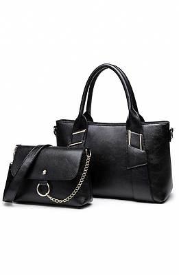Голяма и малка чанта в черно