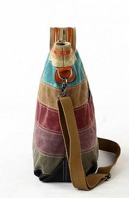 Дамска цветна чанта от текстил