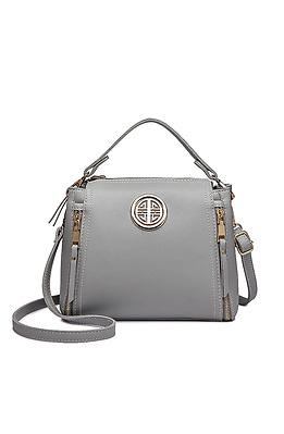 Стилна чанта в сиво