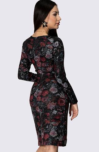 Флорална рокля по тялото