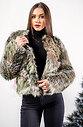Късо дамско палто от еко косъм