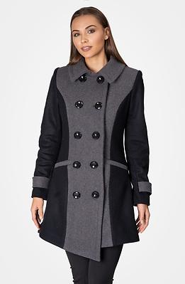 Асиметрично вълнено палто