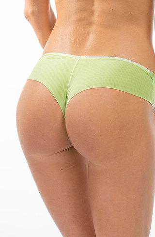 Дамска бикина в зелен десен на точки