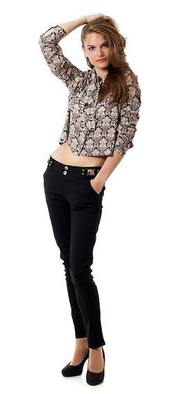 Черен елегантен панталон