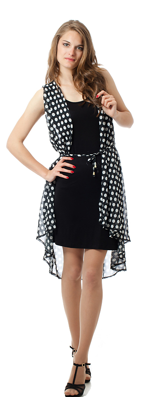 Черна рокля в две части