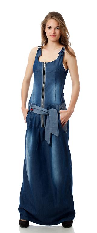 Дълга дънкова рокля III