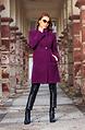 Елегантно палто в пурпурно лилав десен